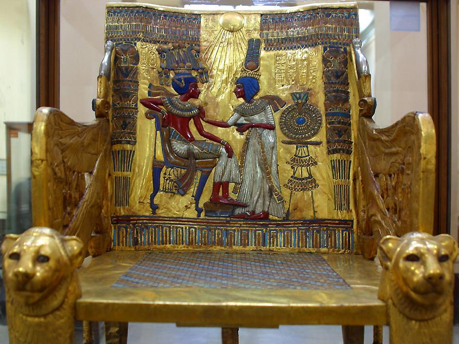 Egyptian throne